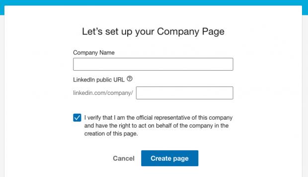ایجاد صفحه شرکتی در لینکداین